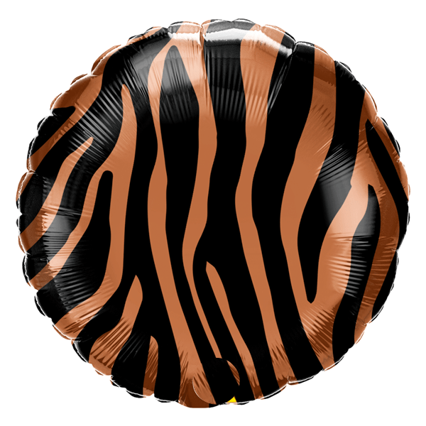 Animal Print Balloon | Tiger Safari Helium Balloon