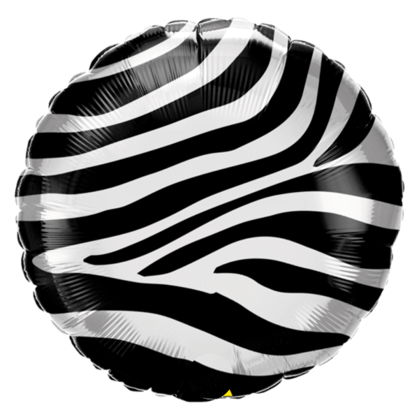 Animal Print Balloon - Zebra