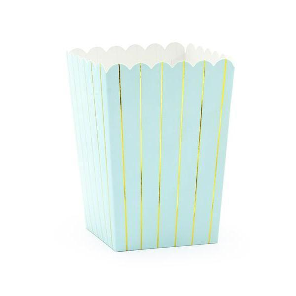 Baby Blue Stripe Treat Boxes (6 pack)
