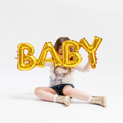 Baby Word Balloon - Gold