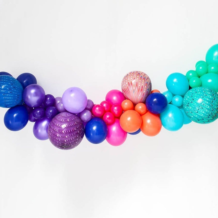 Balloon Garland - Mermaid Peacock Colours
