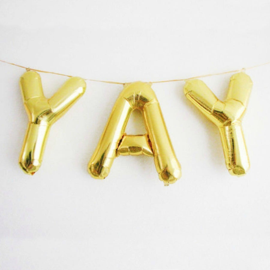 Foil Balloon Letters | Gold Balloon Letters