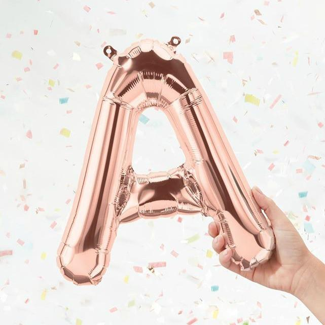 Balloon Letters - Rose Gold 16