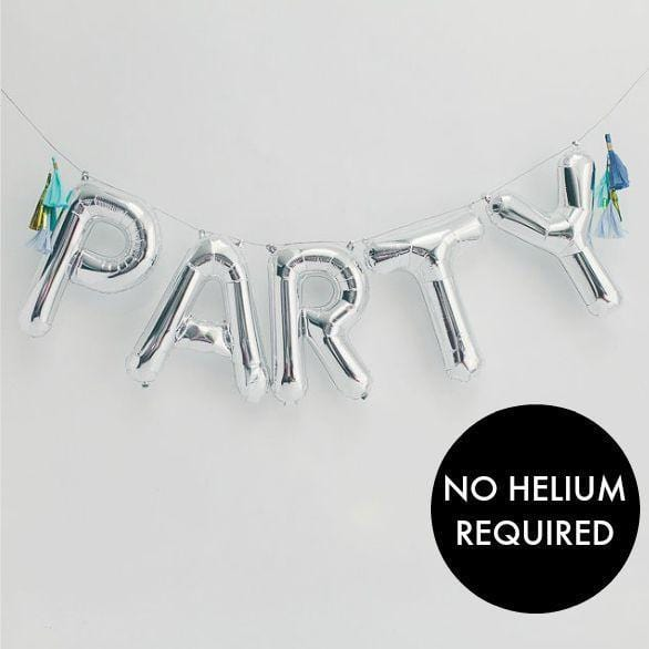 "Silver Letter Balloons | 16"" Balloon Letters 