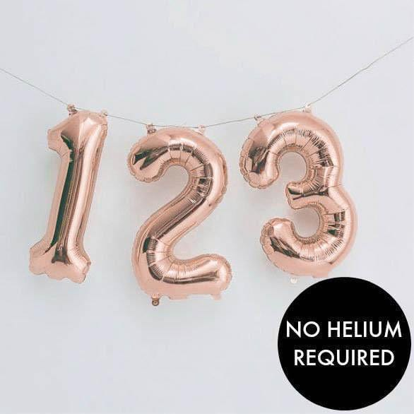 Balloon Numbers - Rose Gold 16