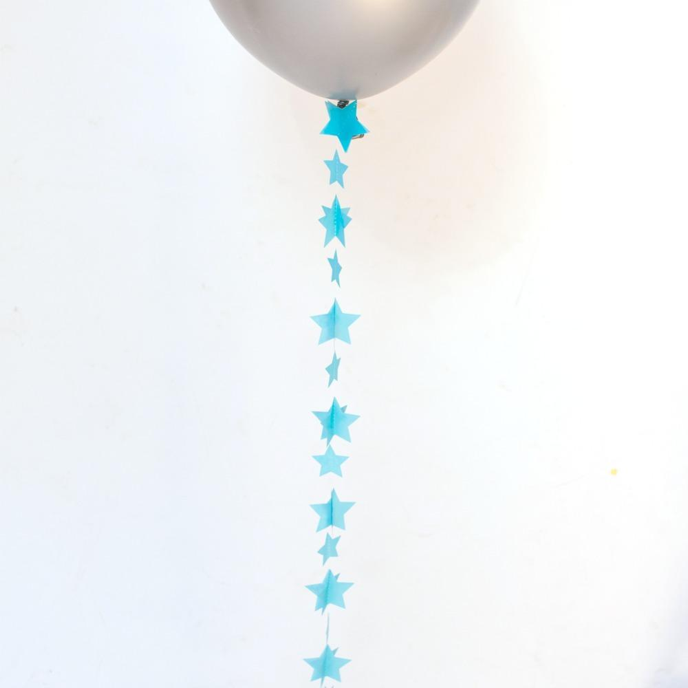 Balloon Tail Blue Stars | Balloon Tail Decorations UK