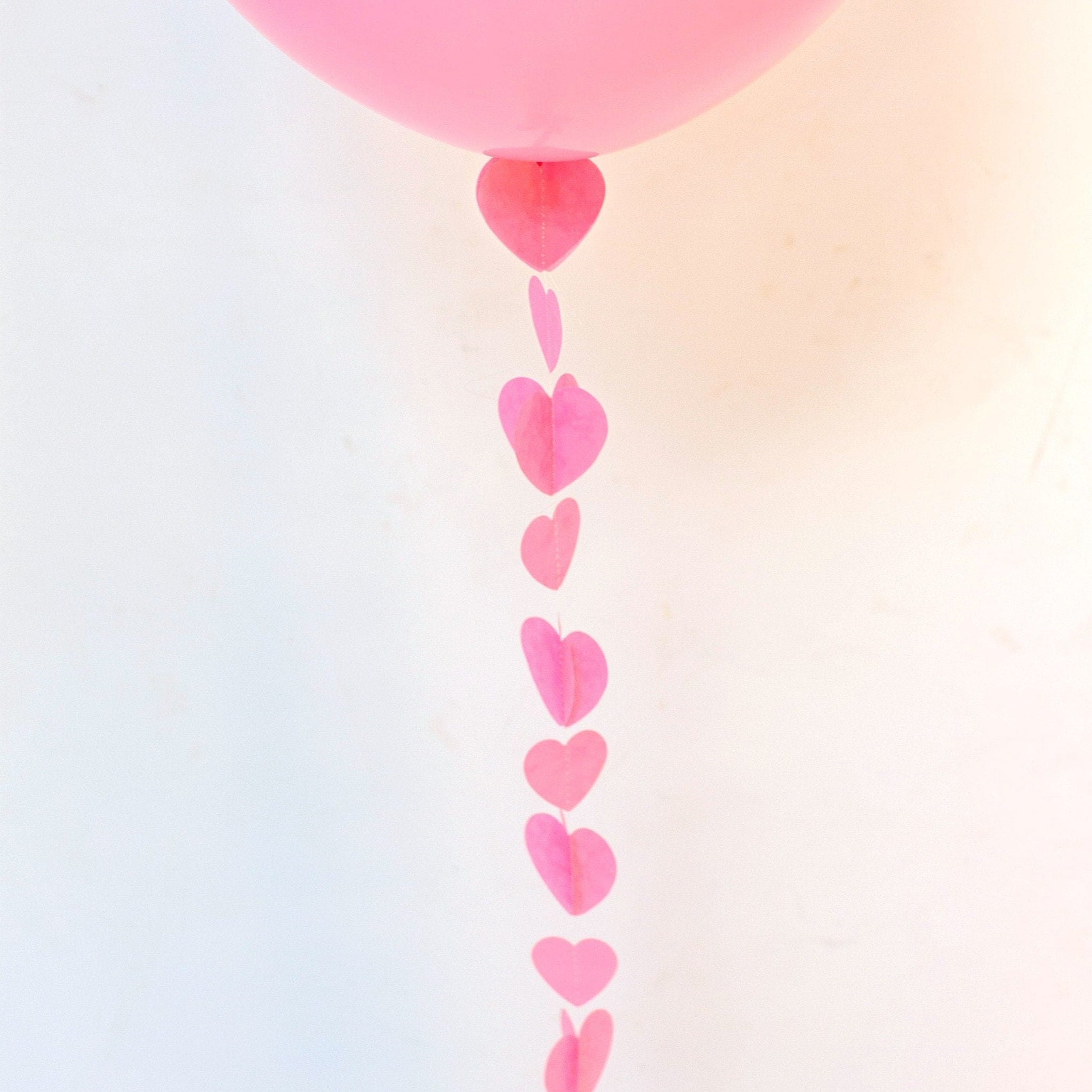 Balloon Tail Pink Hearts | Balloon Tail Decorations UK