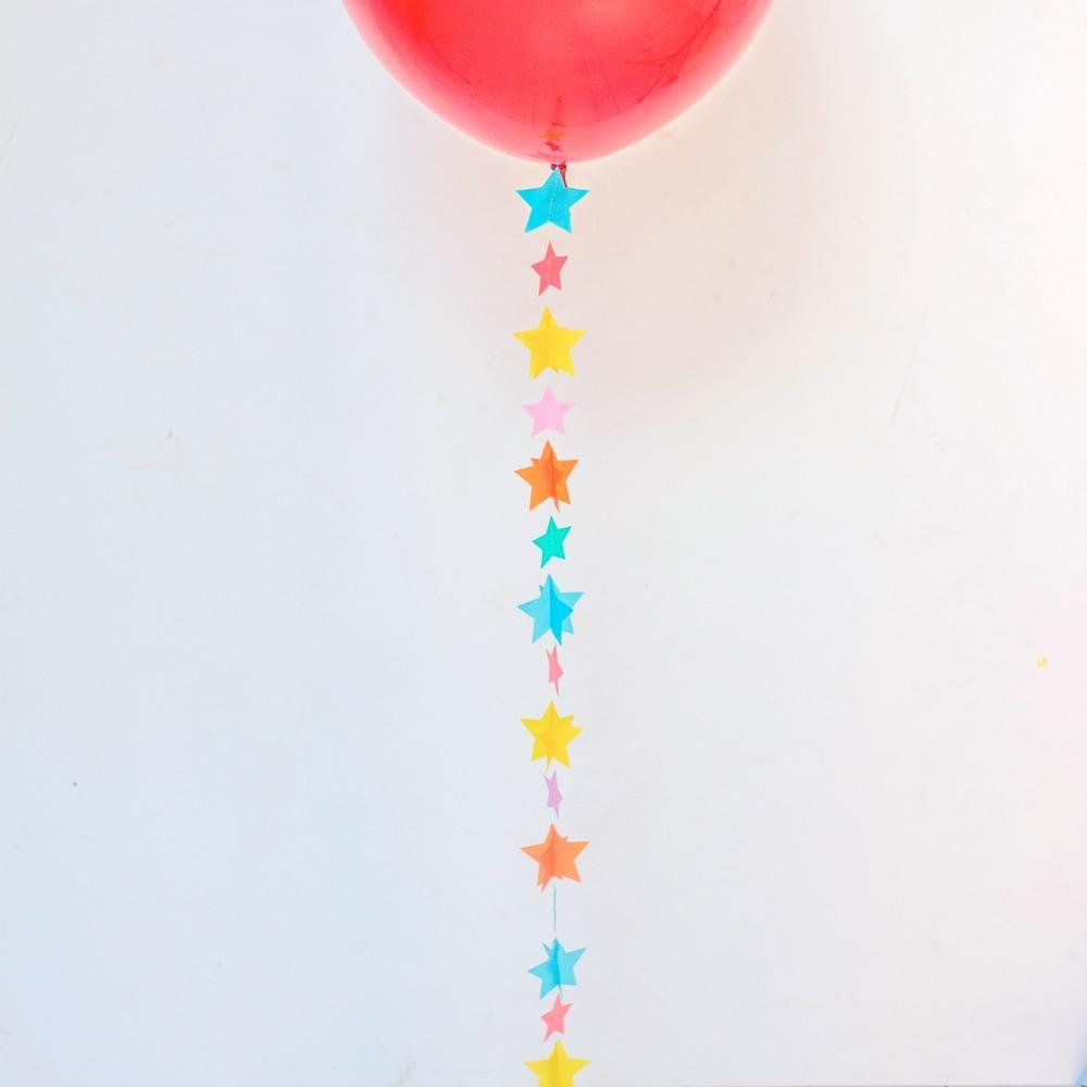 Balloon Tail Rainbow Stars | Balloon Tail Decorations UK