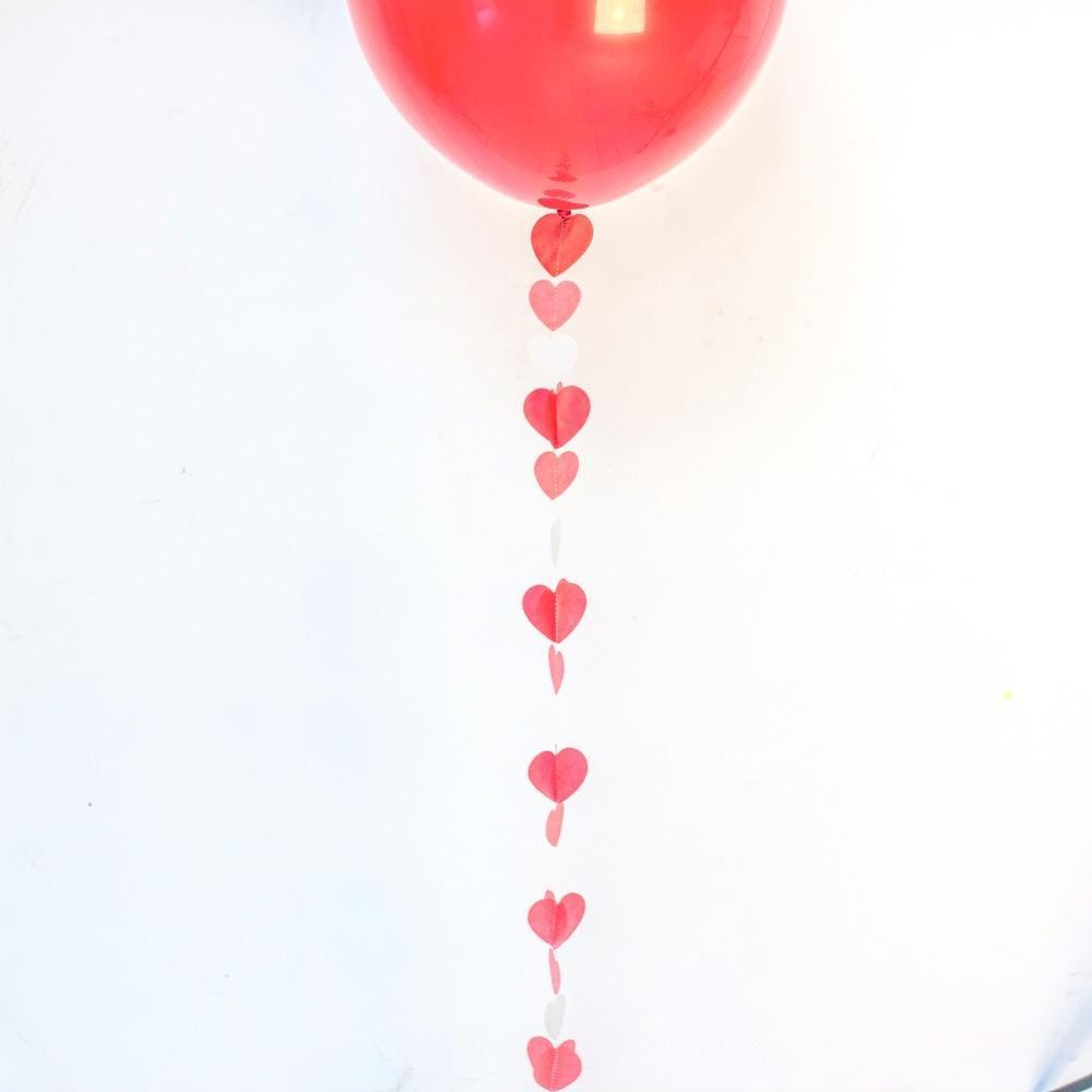 Balloon Tail Red Hearts | Balloon Tail Decorations UK