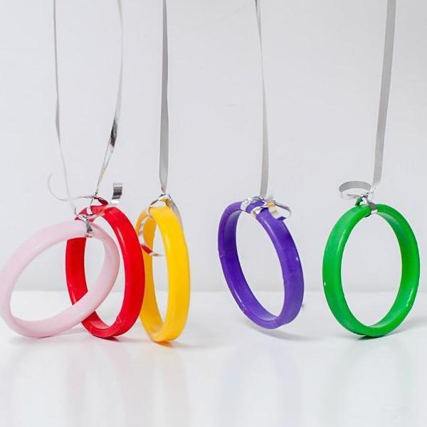 Colourful White Balloon Weights | Balloon Accessories | Bangle Balloon Weights