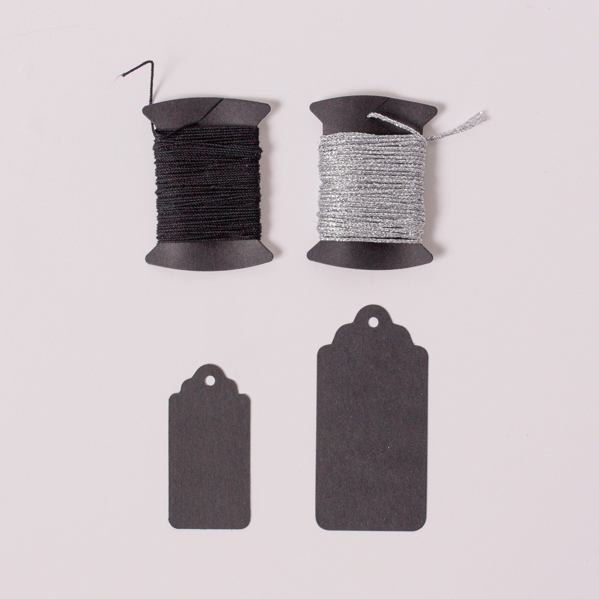 Black Gift Tags and Twine