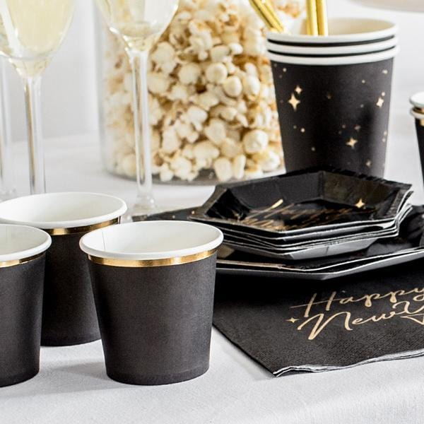 Black Noir Cocktail Cups (6 pack)