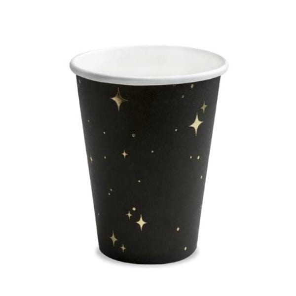 Black Gold Gatsby Paper Cups
