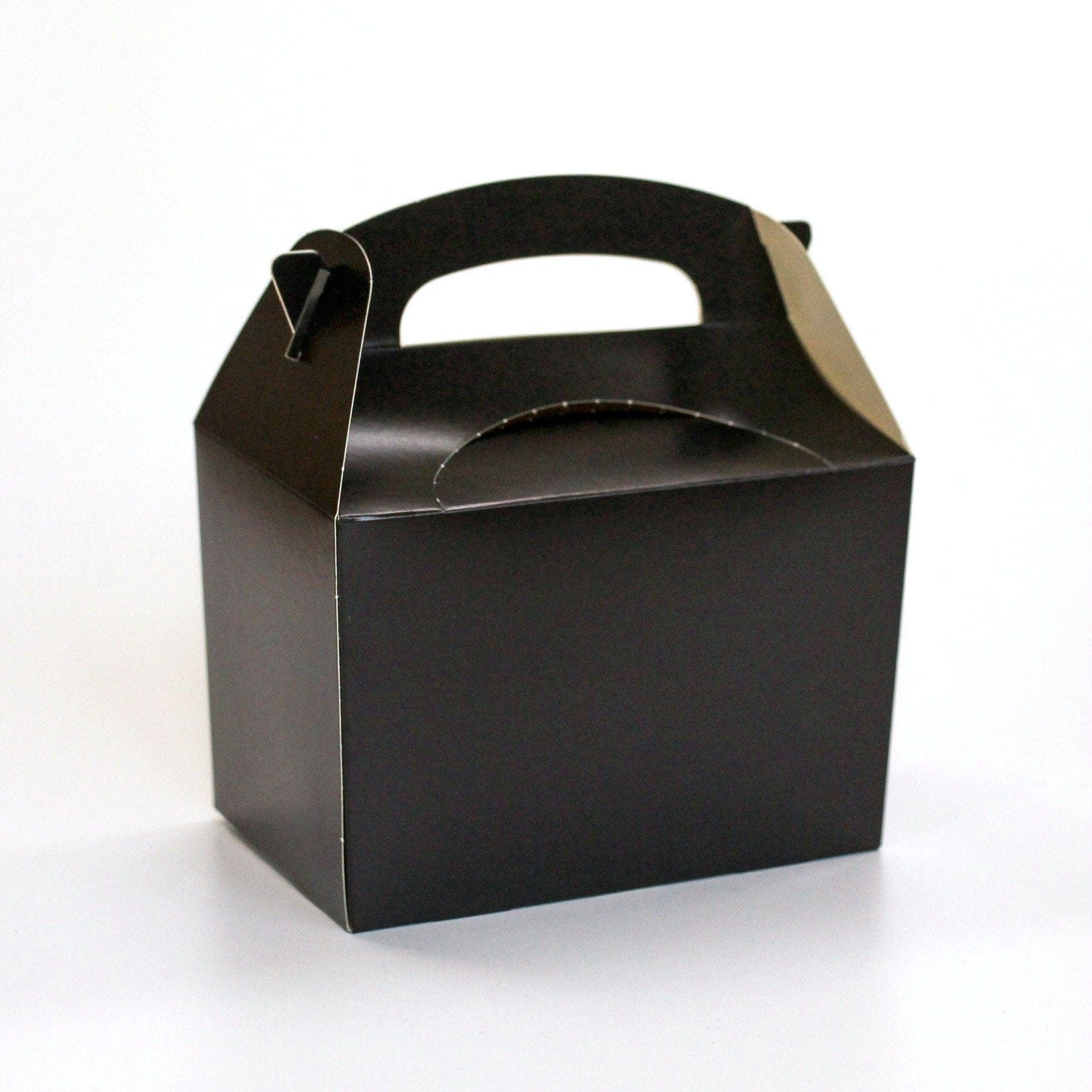 Black Party Lunch Boxes | Coloured Party Boxes UK