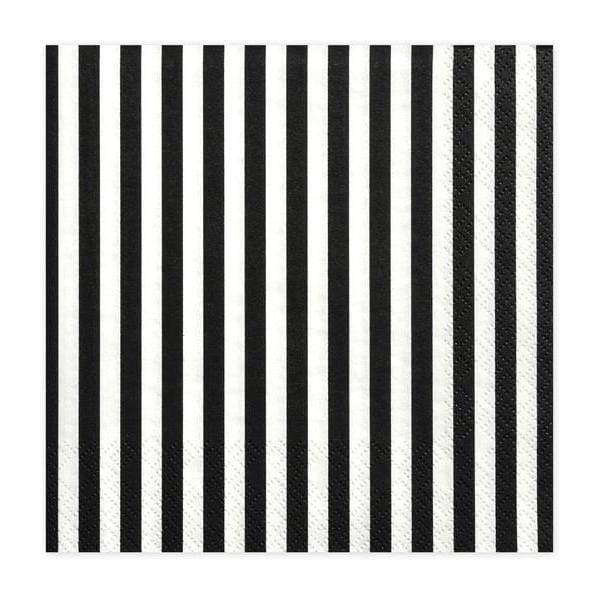Black and White striped Party Napkins