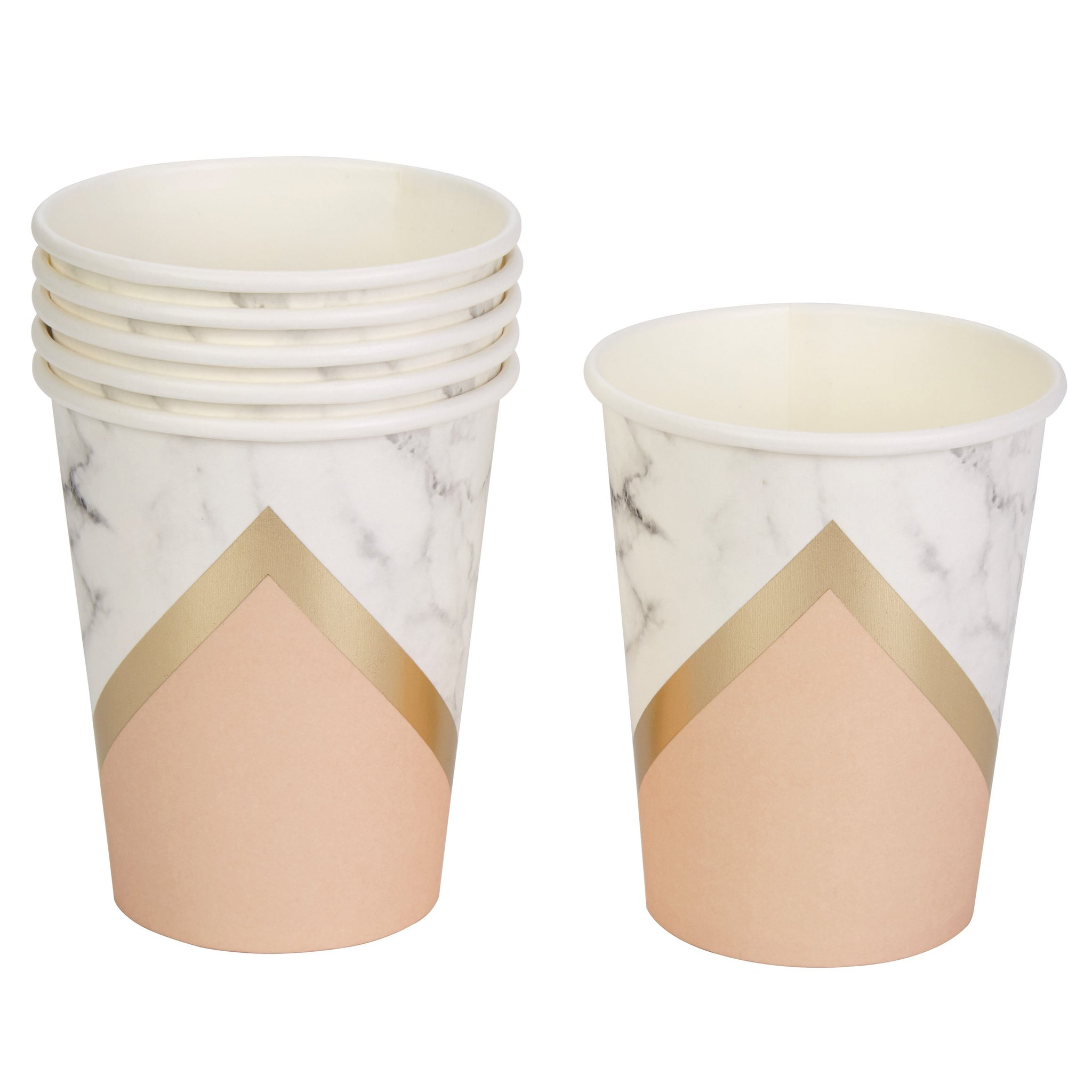 Blush Peach Paper Cups Weddings