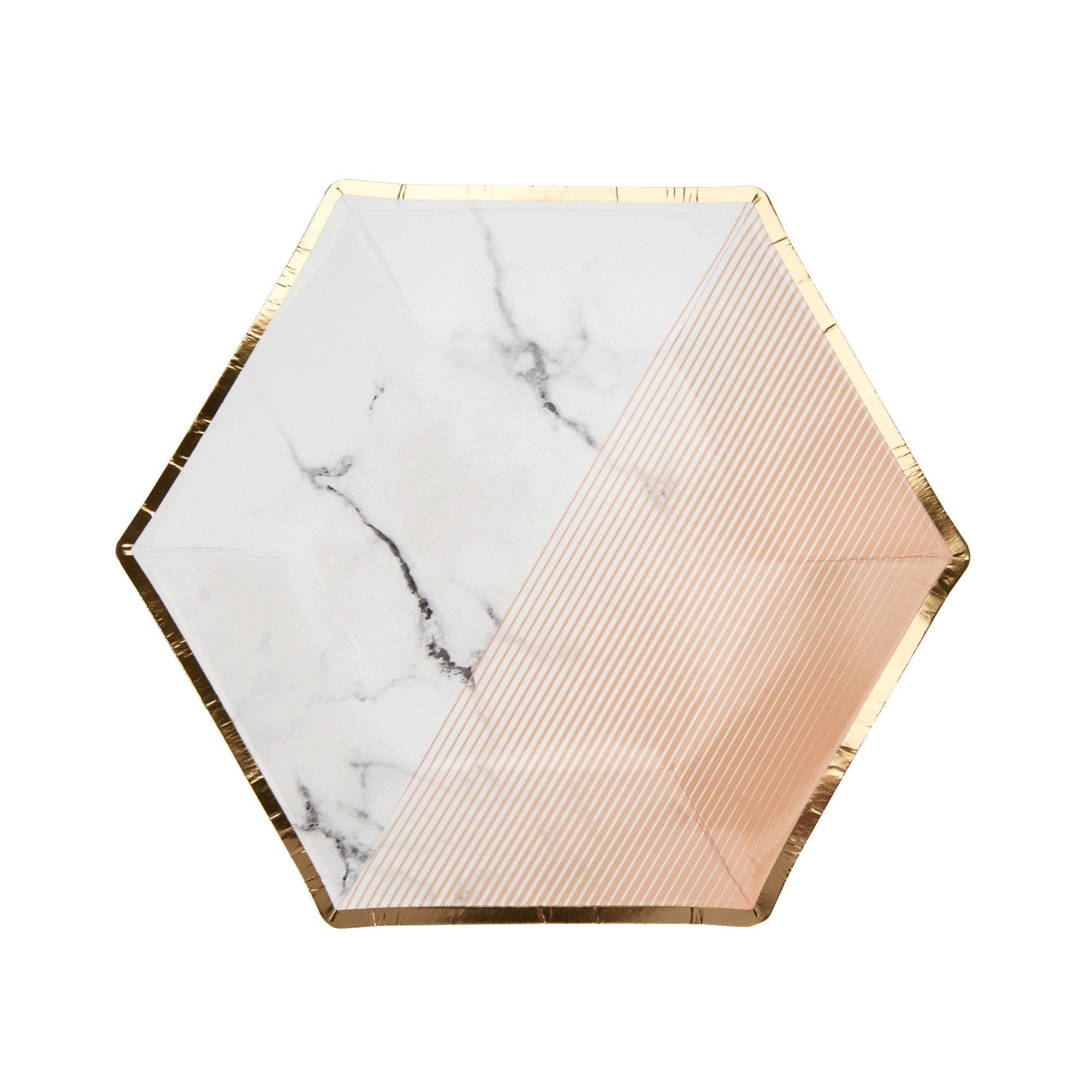 Marble Blush Stylish Party plate | Stylish Party Supplies UK