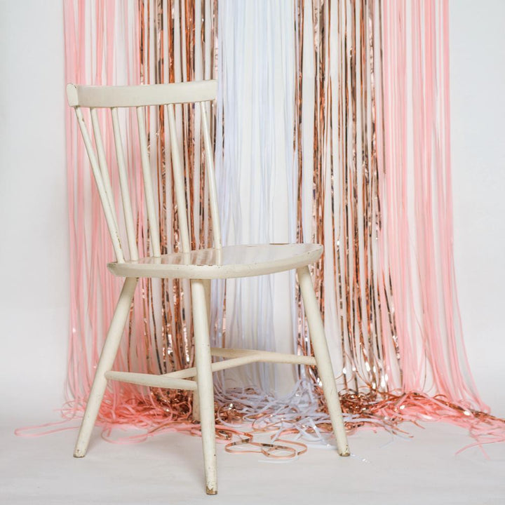 Blush Rose Gold Mix Shimmer Foil Curtain / Balloon Tassel