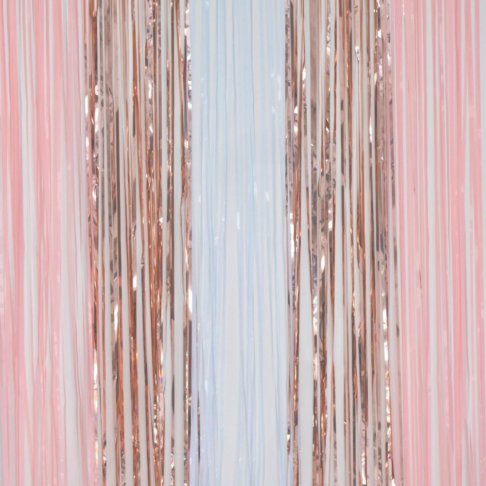 Blush Party Door Curtain Streamers Peach
