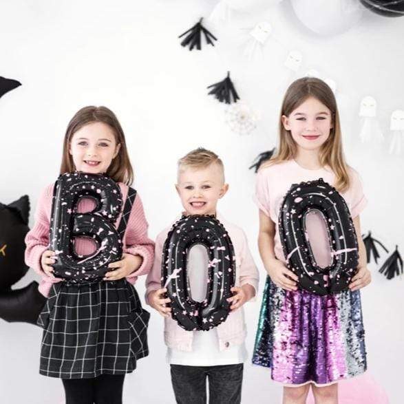 BOO Halloween Foil Letter Balloon Decorations