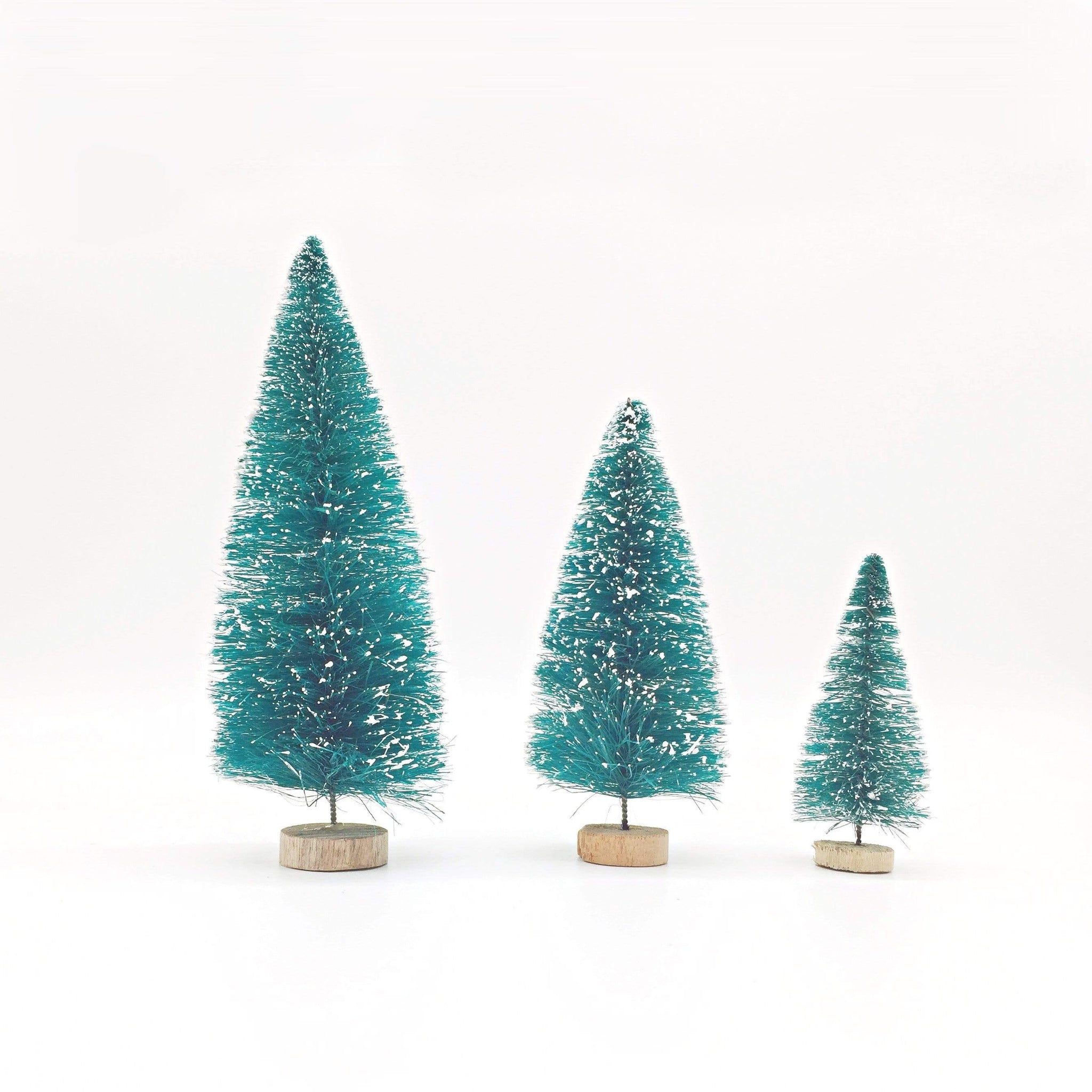 Bottle Brush Trees | Sisal trees Christmas Decorations UK