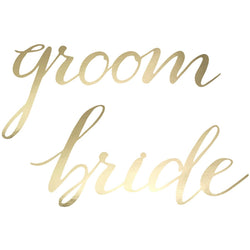 Bride & Groom Chair Signs (2 Pack)