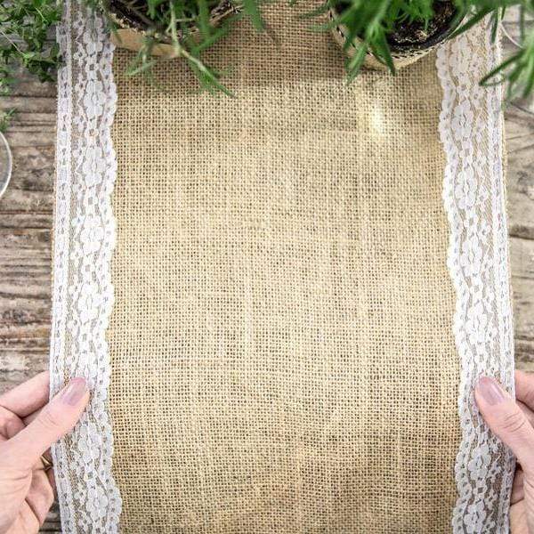 Burlap Table Runner | Lace Table Runners | Party & Wedding