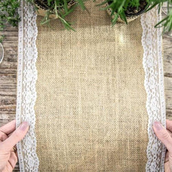 Burlap & Lace Table Runner (2.75m)