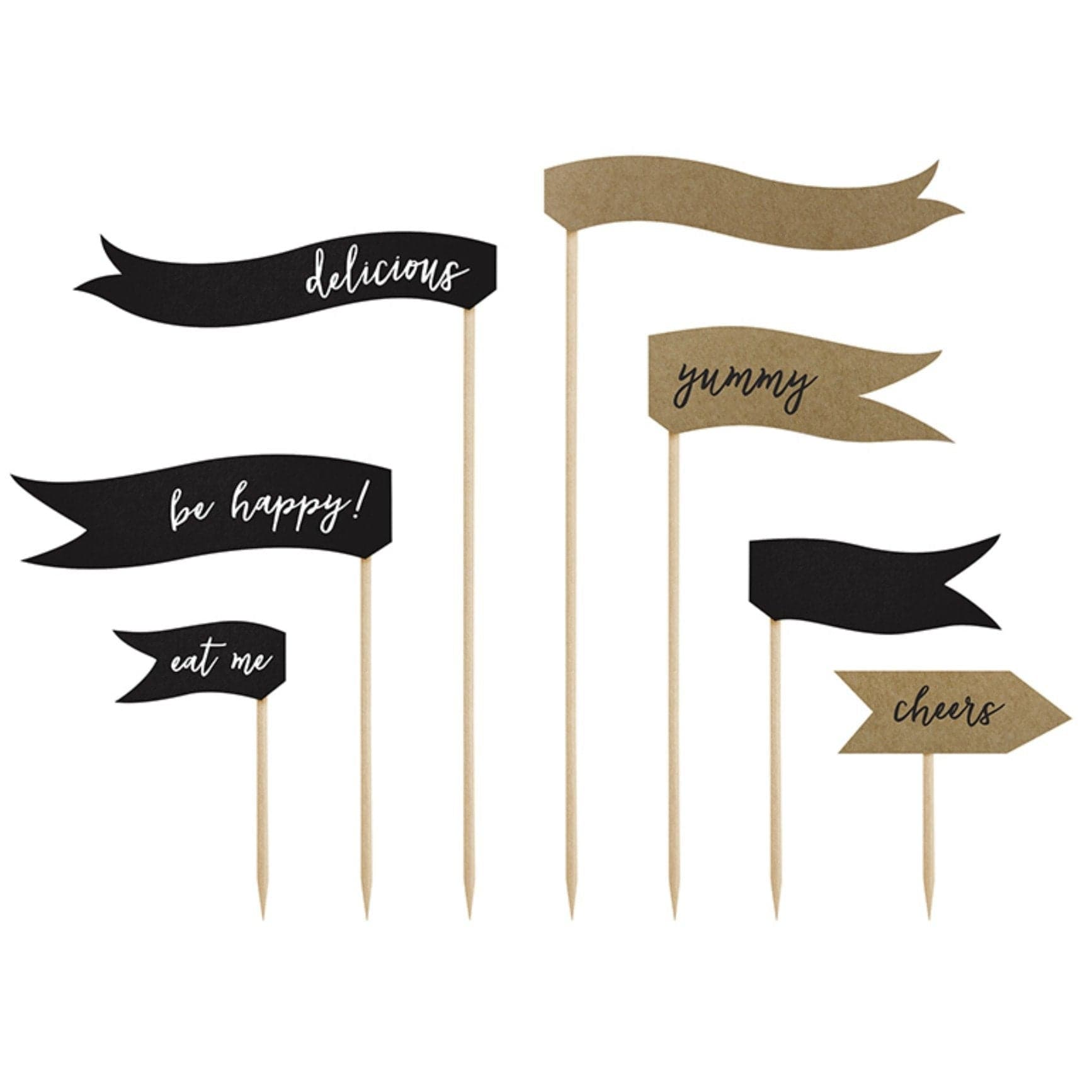 Cake Topper Food Flags