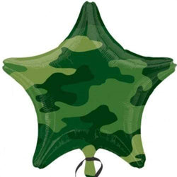 Camouflage Army Star Balloon