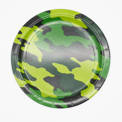 Camouflage Party Plates (8 Pack)