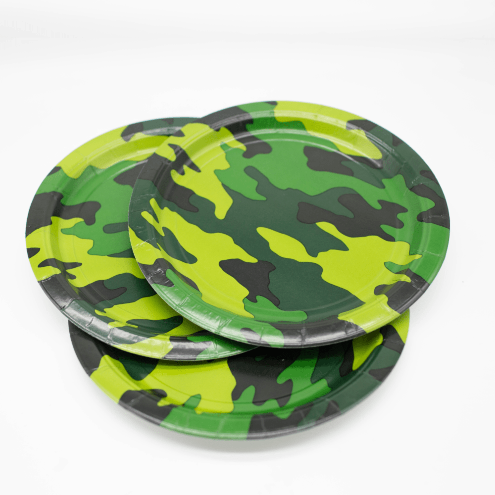 Army Camouflage Party Plates UK