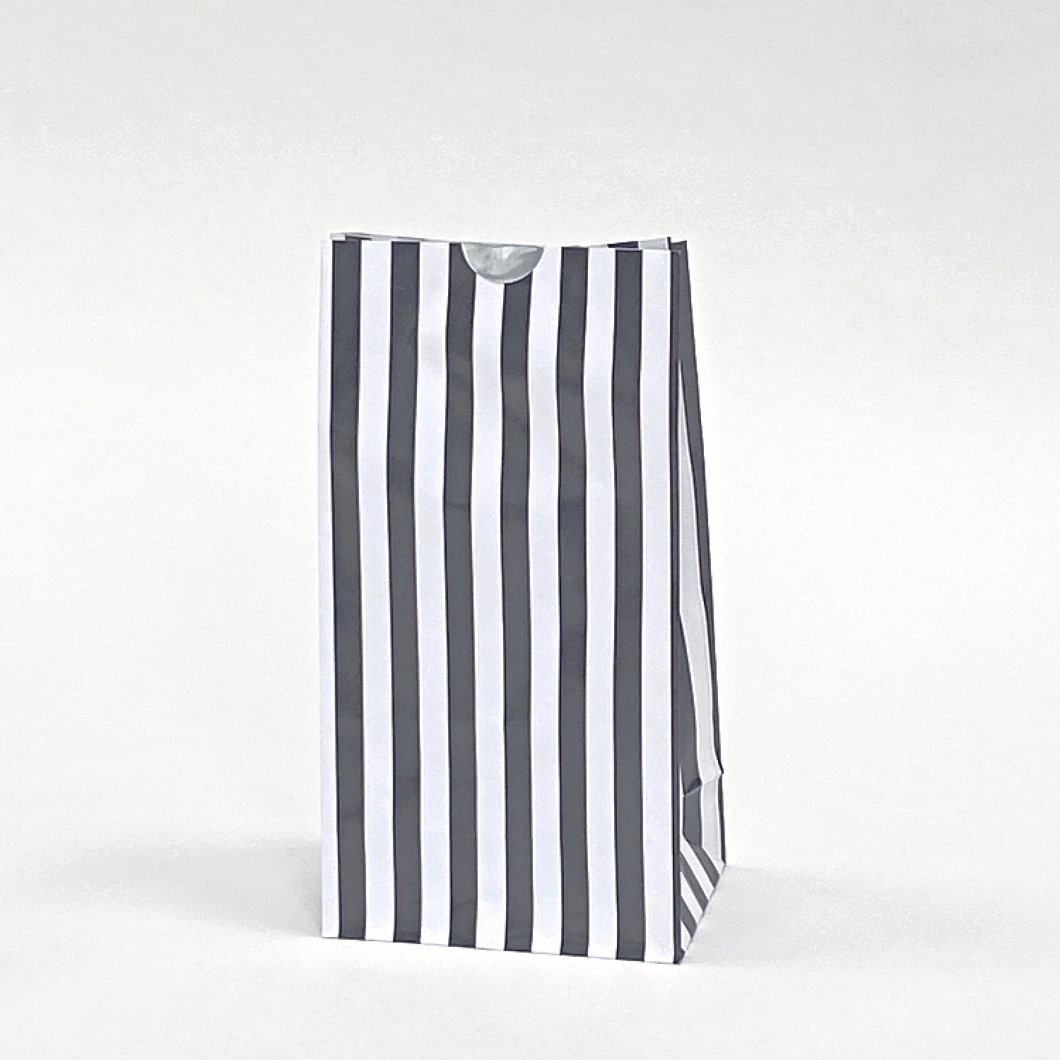 Black striped Party Bags | Block Bottom Paper Bags