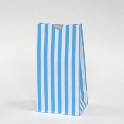Candy Striped Party Bags Blue (12 Pack)