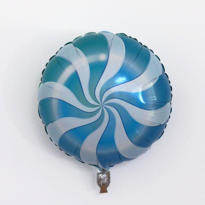 Candy Swirl Balloon - Blue