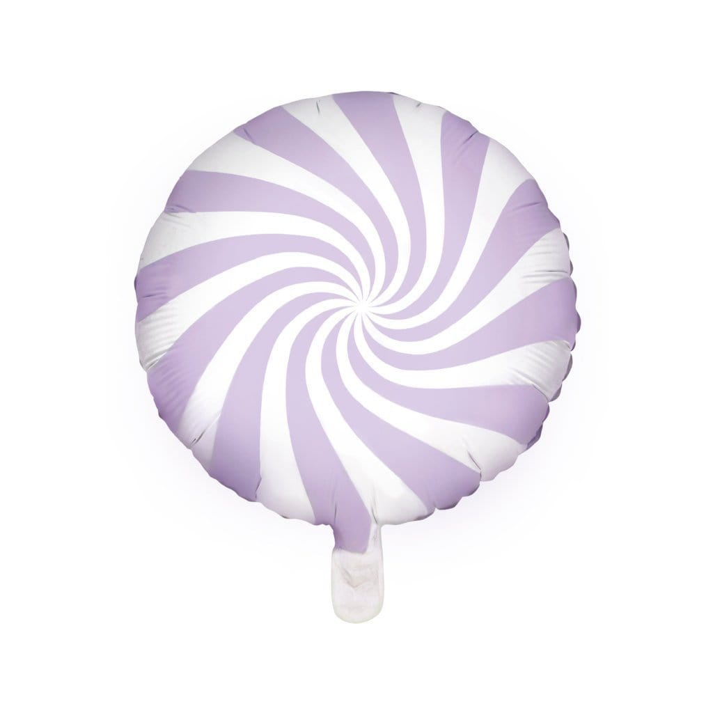 Lilac Candy Swirl Foil Balloon