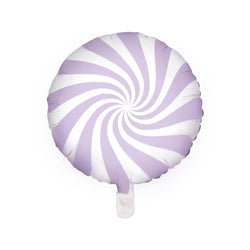 Candy Swirl Balloon - Pastel Lilac