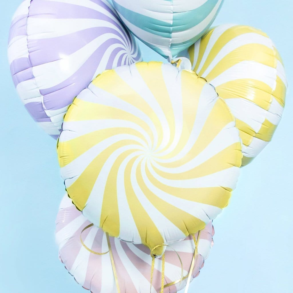 Candy Swirl Foil Balloons | Party Deco