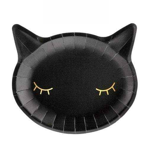 Black Cat Party Plates | Modern Halloween Party