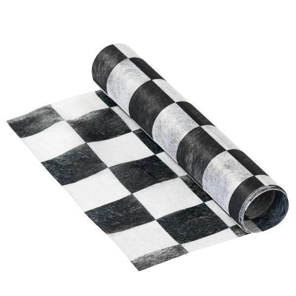 Chequered Table Runner/Placemats | Race Car Party UK