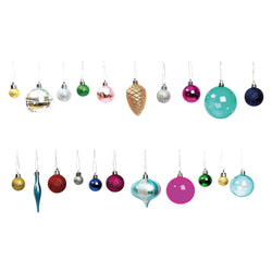 Christmas Baubles Set - Classic Twist | Modern Christmas Tree Baubles