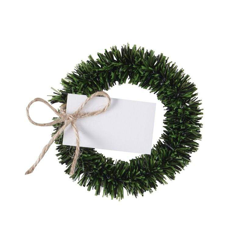 Mini Christmas Wreath Place Settings