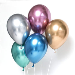 "Chrome Balloons Assorted 11"" (10  pack)"