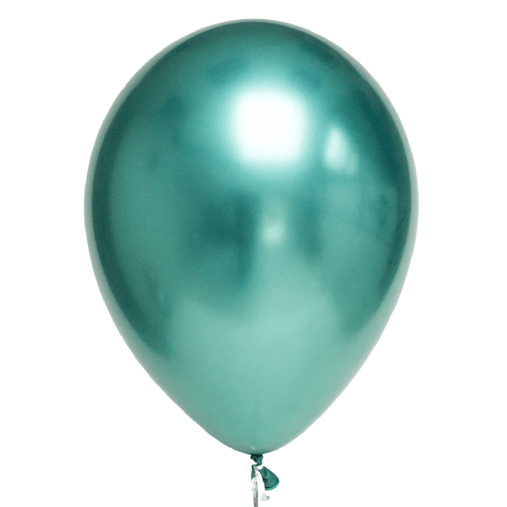 Chrome Green Balloons Qualatex UK
