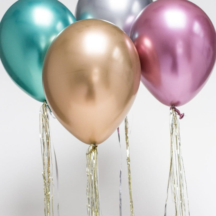 Pink Chrome Balloons | Latex Balloons | Helium Party Balloons | Qualatex