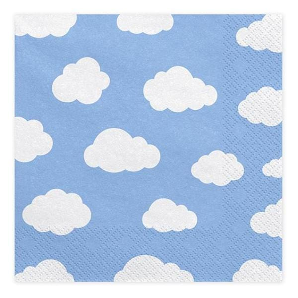 Cloud Party Napkins - Blue