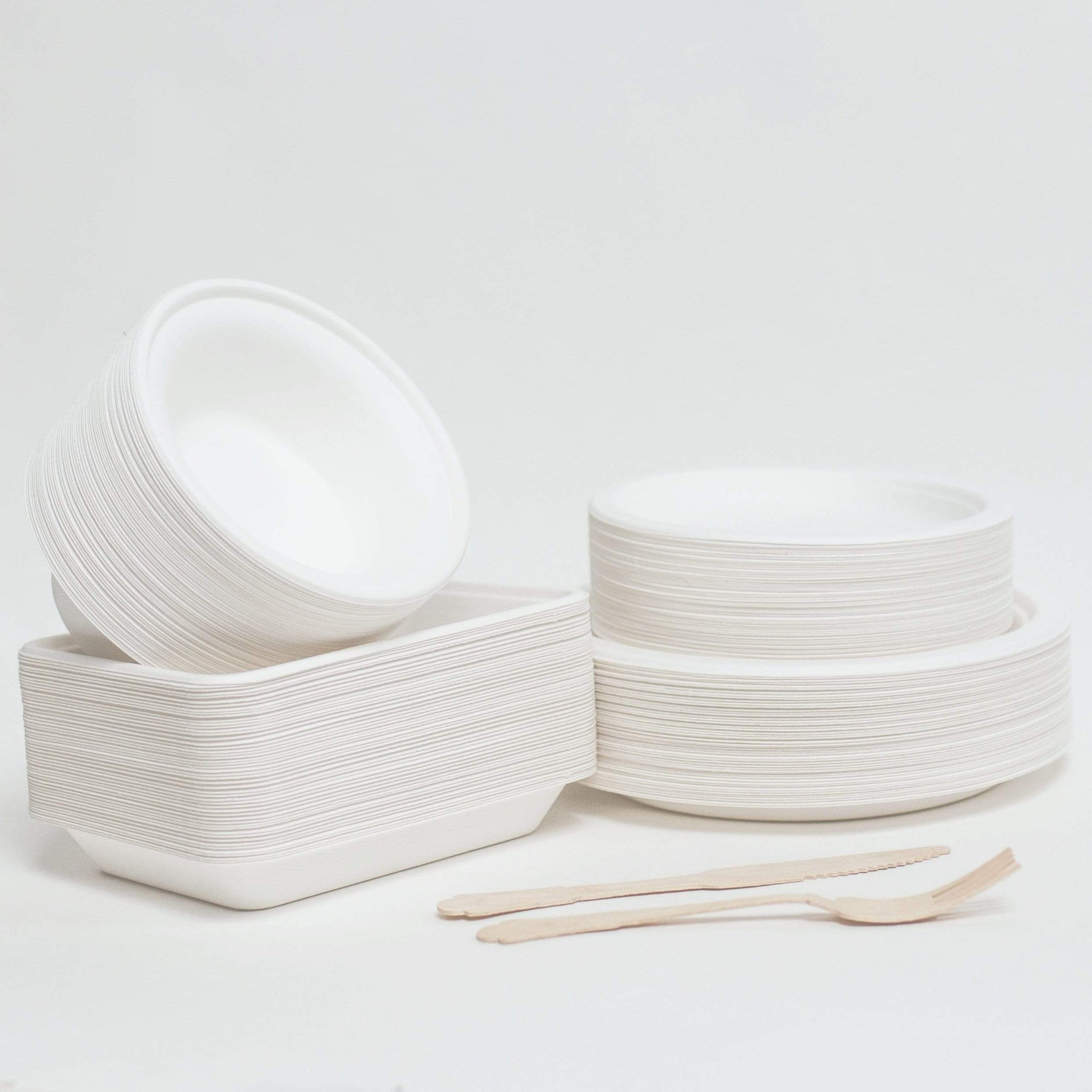 Compostable Bagasse Plates 7""