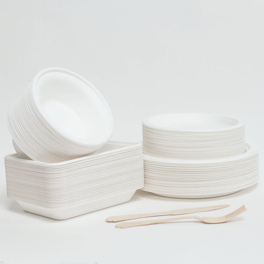 Eco Friendly Bagasse Compostable Plates