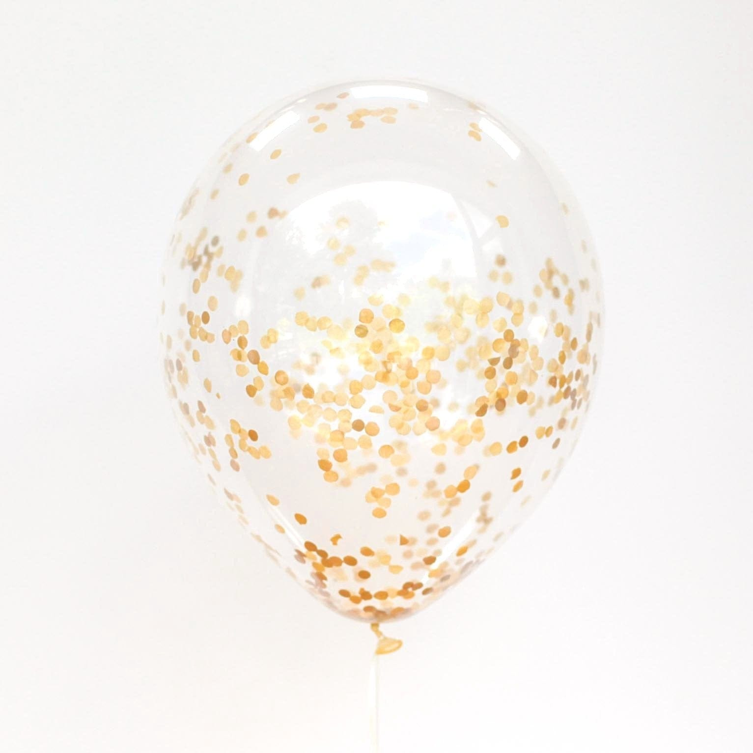 Confetti Balloons Kit Gold (6 Pack)