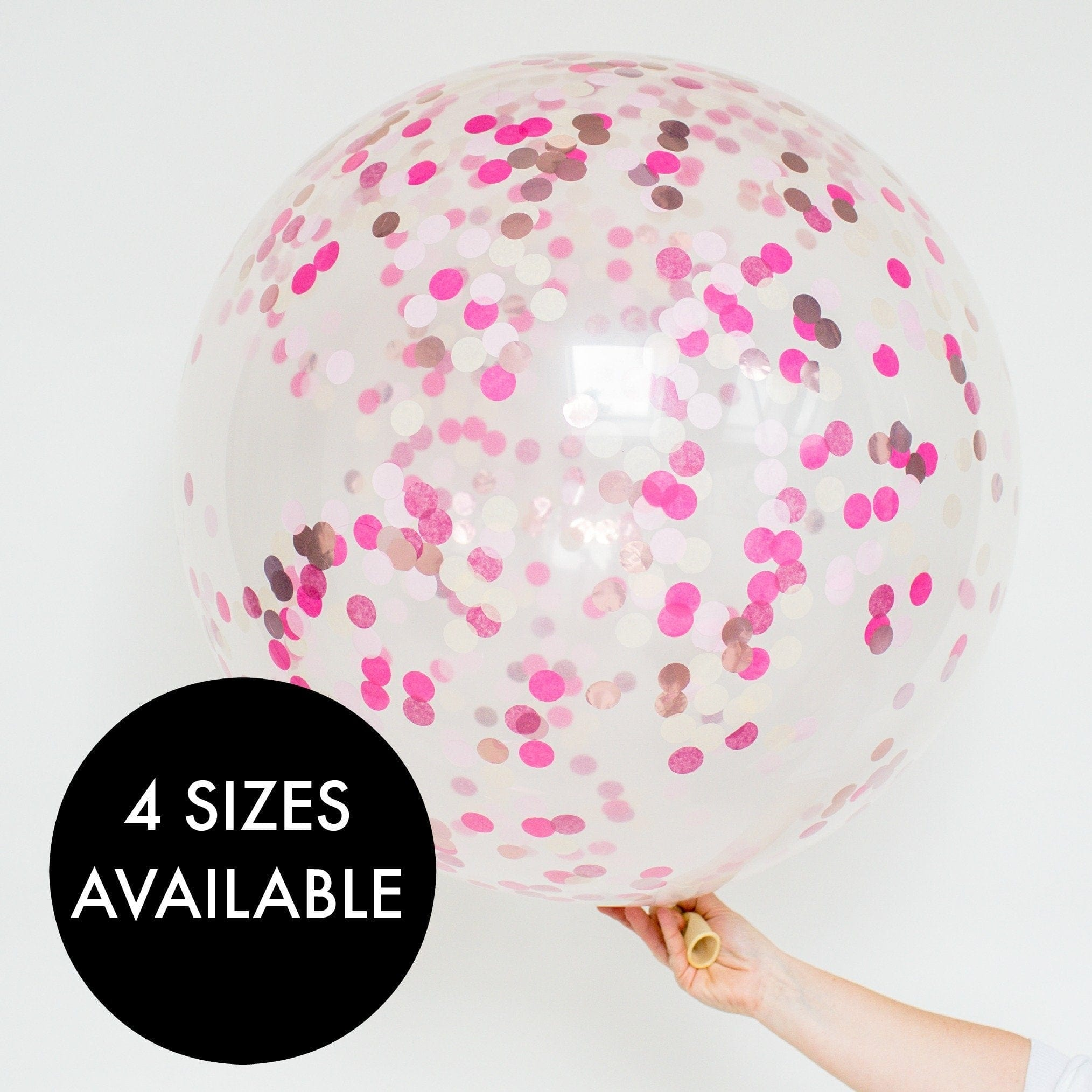 Pink Confetti Filled Giant Balloons